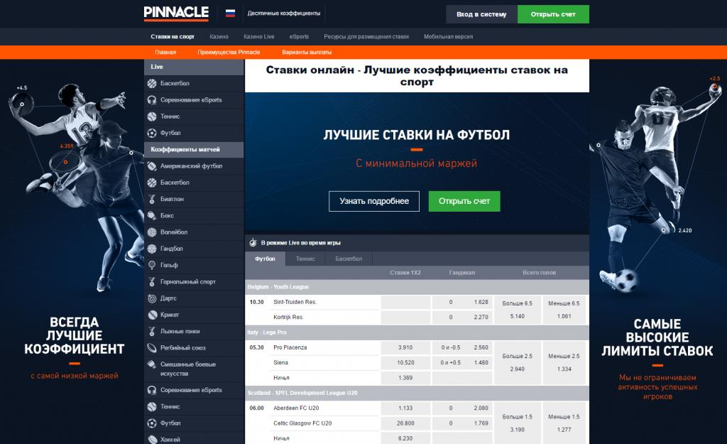 БК Pinnacle сайт